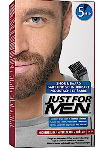 Just for men Snor & baard mid­den­bruin M35