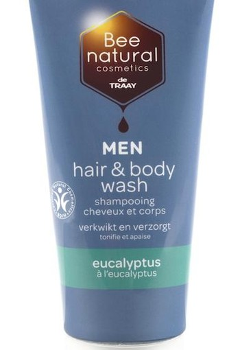 Traay Bee Honest Hair & body wash men eucalyptus (200 ml)