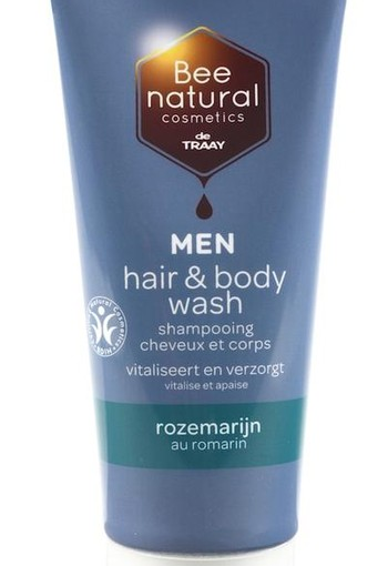 Traay Bee Honest Hair & body wash men rozemarijn (200 ml)