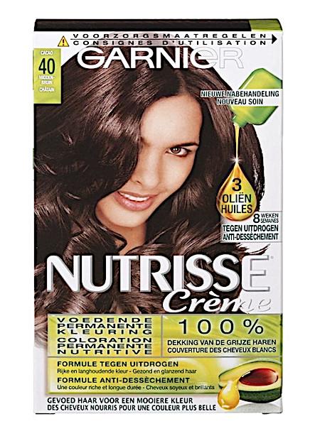 fc03d23c9ab Garnier Nutrisse Crème 40 Middenbruin Permanente Haarkleuring
