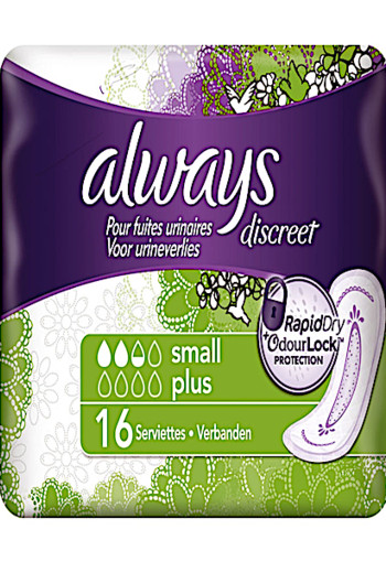 Always Discreet Maandverband Small Plus 16st