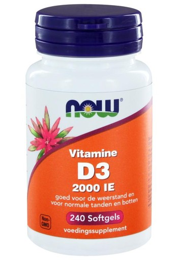 NOW Vitamine D3 2000IE (240 softgels)