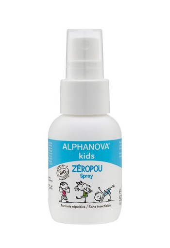 Alphanova Kids Bio zeropou spray preventie hoofdluis (50 ml)
