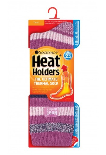 Heat Holders Ladies fashion twist 4-8 appleby pink strips twist (1 paar)