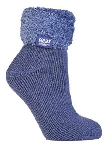 Heat Holders Ladies lounge socks 4-8 37-42 dark lavender (1 paar)