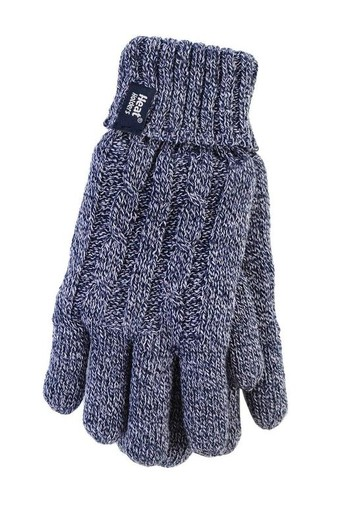 Heat Holders Ladies cable gloves S/M navy (1 paar)