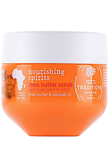 Treets Nou­ris­hing spi­rits she­a­but­ter scrub Normale  325 g