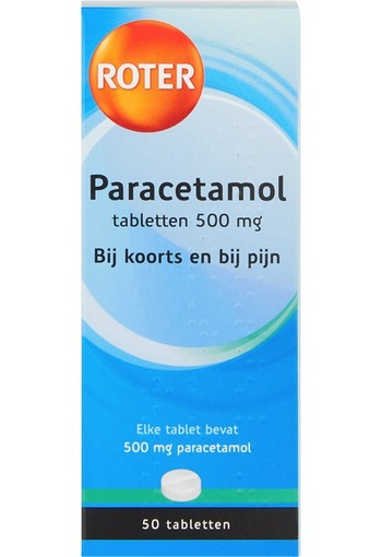 Roter Paracetamol 500 mg (50 tabletten)