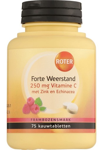 Roter Vitamine C weerstand forte 250 mg (75 tabletten)