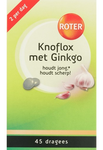 Roter Knoflox met ginkgo (45 dragees)