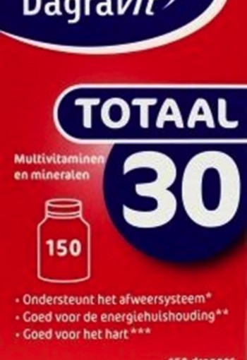 Dagravit Totaal 30 dispenser navul (150 dragees)