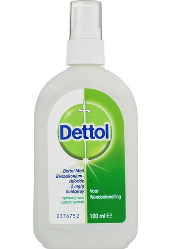 Dettol Wondspray- Wondontsmetting Huidspray 100 ml