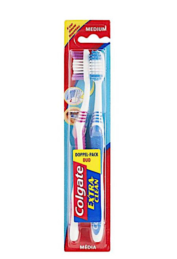 Colgate Tandenborstel extra clean medium duo (2 stuks)
