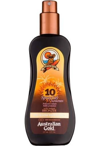 Australian Gold SPF 10 Spray Gel met bronzer - 237 ML - Bronzer
