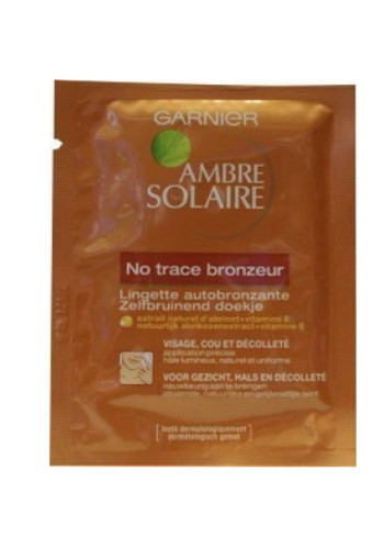 Garnier Ambre solaire no trace face wipes (5.6 ml)