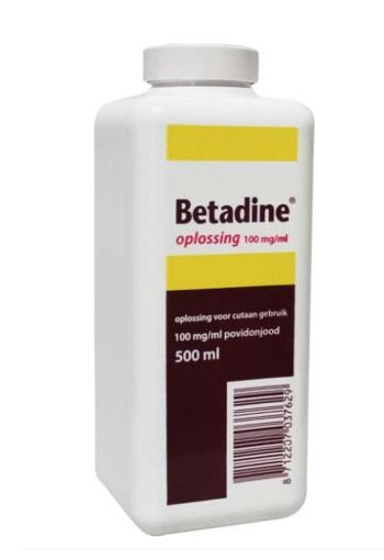 Betadine Jodium oplossing 100 mg/ml (500 ml)