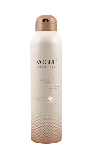 Vogue Cosmetics Bodylotion spray & go glow & shine (200 ml)