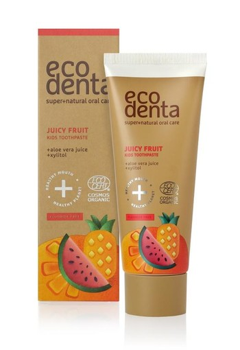 Ecodenta Tandpasta kids juicy fruit (75 ml)