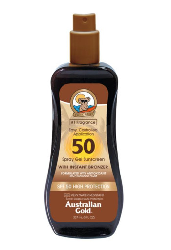 Australian Gold Spray gel met bronzer SPF50 (237 ml)