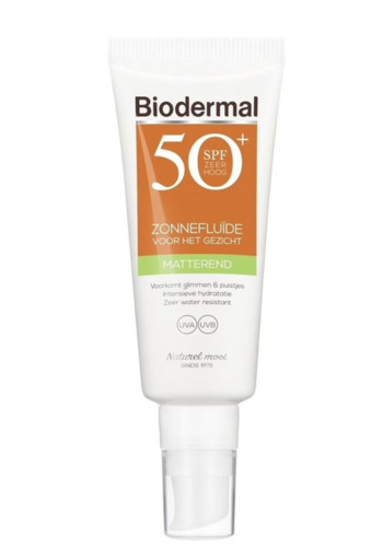 Biodermal Matterende zonnefluid SPF50+ (40 ml)