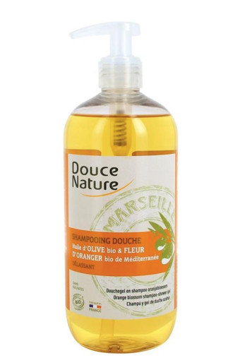 Douce Nature Douchegel & shampoo oranjebloesem (500 ml)