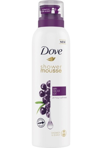 Dove Acai Oil Shower Mousse 200 ml