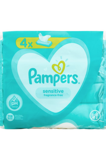 Pampers New Baby Sensitive Babydoekjes 4-pak / 200 stuks