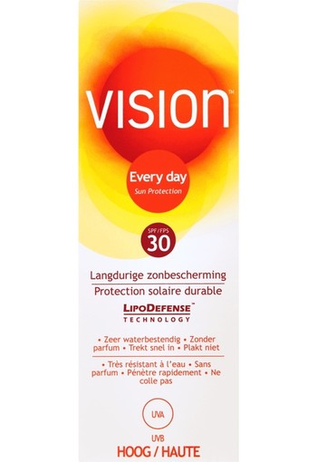 Vision Every Day Langdurige Zonbescherming Tube SPF30 100 ml