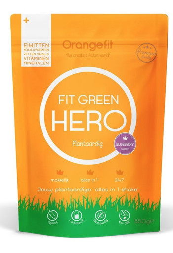 Orange Fit Fit Green Hero Blueberry 850 gram