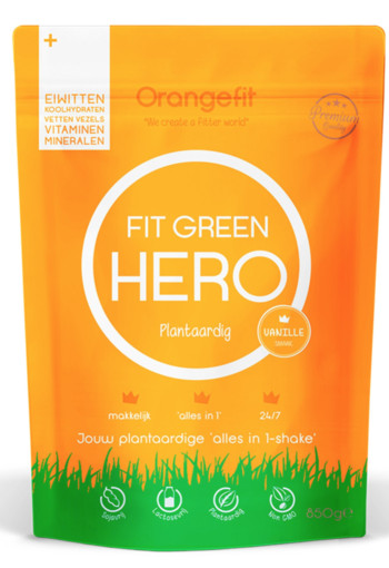 Orange Fit Fit Green Hero Vanille 850 gram