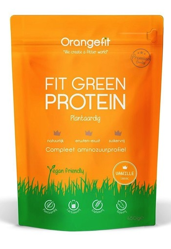 Orange Fit Fit Green Protein Vanille 450gr