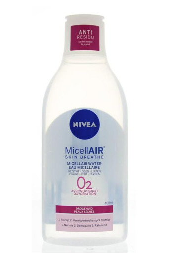 Nivea Visage micellair water 3 in 1 droge huid (400 ml)