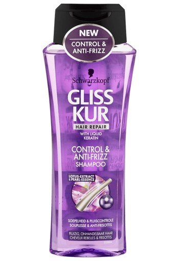 Schwarzkopf Gliss Kur Hair Repair Control & Anti-Frizz Shampoo 250 ml