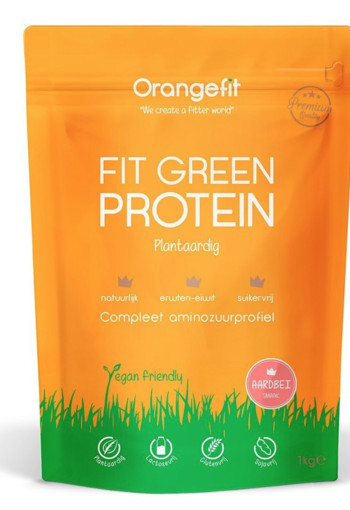 Orange Fit Fit Green Protein Aardbei 1000gr