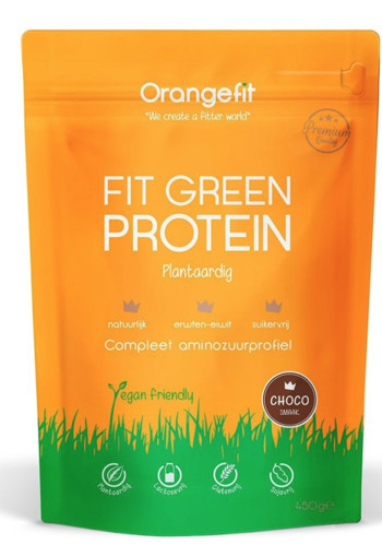 Orange Fit Fit Green Protein Chocolade 450 gram