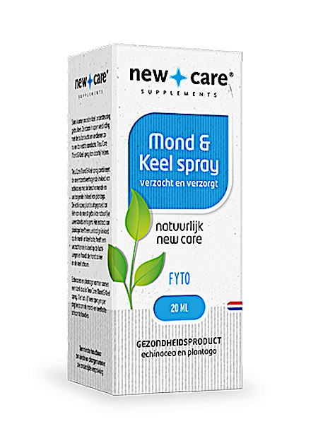New Care Mond & Keel spray verzacht en verzorgt Inhoud  20ml