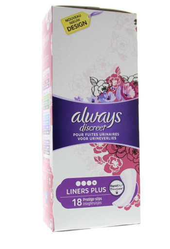 Always Discreet liners plus (18 stuks)