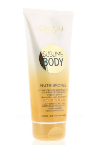 Loreal Body expertise nutribronze bodymilk lichte huid (200 ml)