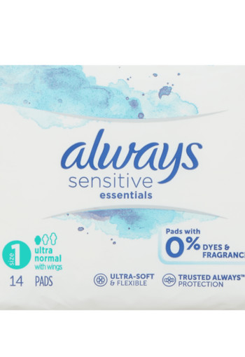 Always Sensitive Maandverband Essentials Normal Plus Met Vleugels 14 stuks