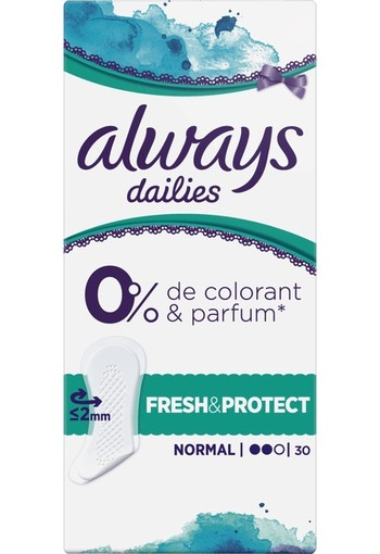 Always Dailies Fresh en Protect Inlegkruisjes Normal 30 stuks