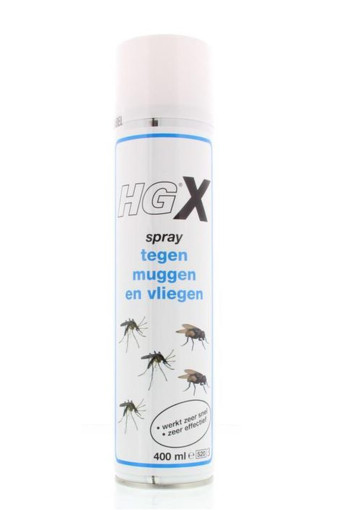 HG X muggen/vliegen spray (400 ml)