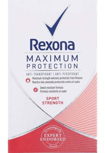 Rexona Deodorant maximum protection sport strength women 45 ml