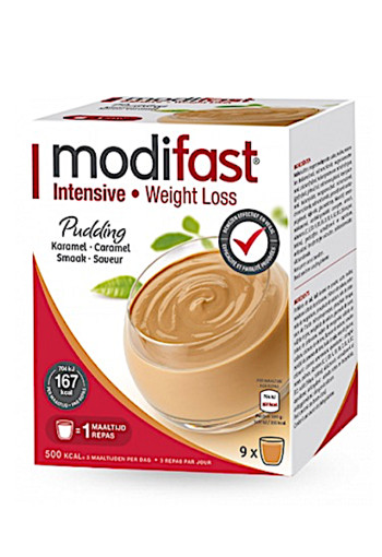 Modifast Intensive Pudding Caramel 9 Stuks 423g