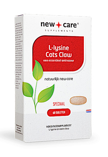 New Care L-Lysine Cats Claw een essentieel aminozuur Inhoud  60 tabletten