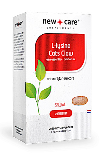 New Care L-Lysine Cats Claw een essentieel aminozuur Inhoud  120 tabletten