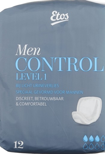 Etos Control Incontinentieverband Men Level 12 stuks