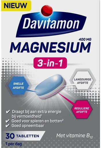 Davitamon Magnesium 3 in 1 30 tabletten