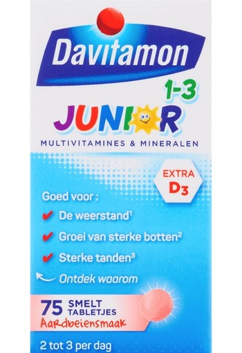 Davitamon Junior 1+ smelttablet 75 tabletten