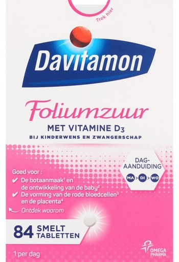 Davitamon D Foliumzuur 84 tabletten