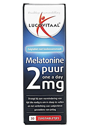 Lucovitaal Melatonine Puur One A Day 2 Mg 30zt